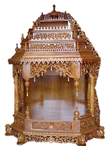 Handcrafted Teak Wood Pooja Mantap Mandir Home Temple