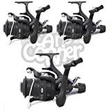3 x NGT XS9000 Carp Runner Big Pit Long Cast Fishing Reel With Spare Spools