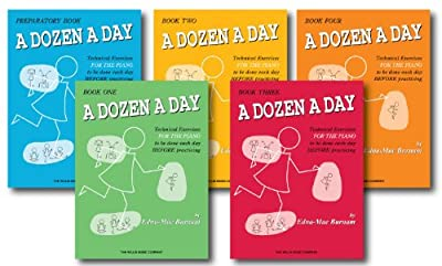 A Dozen a Day Technical Excercises for the Piano - Complete 5 Book Set - Includes A Dozen a Day Preparatory Book, Book One, Book Two, Book Three, and Book Four