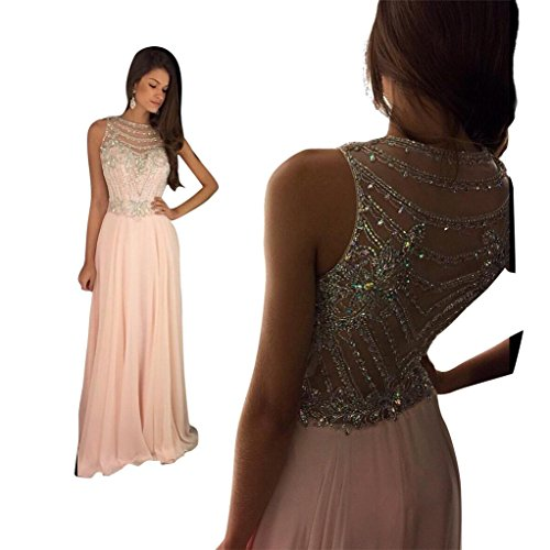 topquality2016 women s pink crystal beaded prom dresses long fitted evening gown arty dress. Black Bedroom Furniture Sets. Home Design Ideas