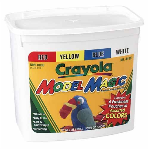 Crayola - Model Magic Self-Hardening Modeling Compound, Four 8oz Pouches, Four Colors
