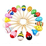 1PC Baby Kids Sound Music Gift Toddler Rattle Musical Wooden Sand Hammer Toys