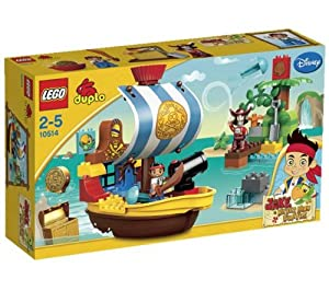 LEGO Duplo Jake and the Pirates- Jake's Pirate Ship Bucky - 10514 + Duplo Jake and the Pirates - Never Land Hideout - 10513