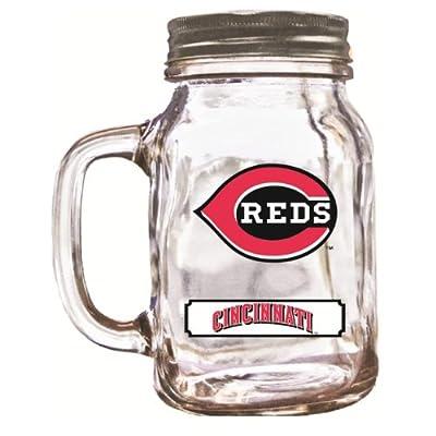 MLB Cincinnati Reds Duckhouse 20 Ounce Mason Jar