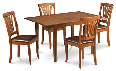 5-Pc Dining Set in Brown