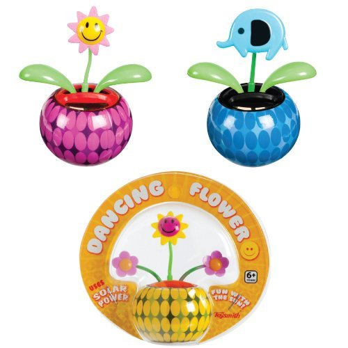Mini Solar Dancing Flowers - Assorted Styles with Adhesive Base