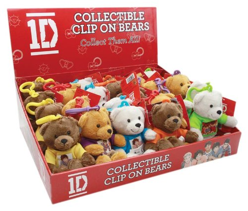 Play Visions 1D Mini Bears with Clips Plush Pillow, 6""