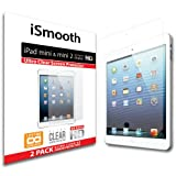 iSmooth Apple iPad Mini with Retina Display and iPad Mini (Apple iPad Mini 2) Ultra Clear Premium HD Screen Protector 2 Pack (fits all Apple iPad Minis)
