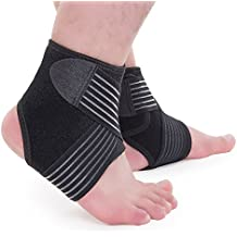 Uarter Breathable Ankle Support Adjustable Sports Ankle Brace Protector With Compression Strap For Running/Basketball...
