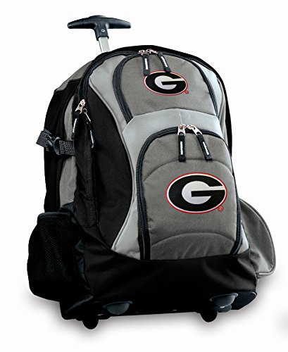 Georgia Bulldogs Rolling Backpack Deluxe Gray University Of Georgia Uga Best Ba