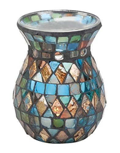 Biedermann & Sons Stain Glass Mosaic Tealight Oil Warmer