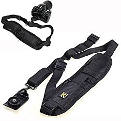 Raysun® Quick Rapid Release Neck Shoulder Camera Sling Strap Belt for Canon Nikon Sony Olympus Panasonic Pentax Fuji DSLR/SLR Cameras