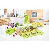 Duomishu Multi Gemüsehobel Schneider 10 in 1 Gemüsehobel und Reibe Handschutz küchenreibe Raspel Hobel mit Praktische Sammel- und Aufbewahrungsbox für schneide, hacke, würfle, reiben und julienne und so weiter