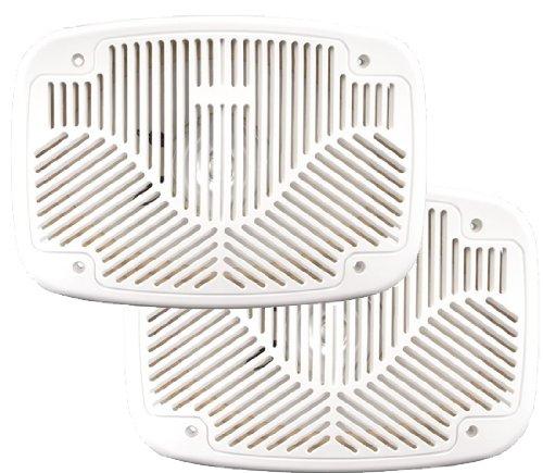 """Magnadyne Wr692W Pair White 6 X 9"""" Coaxial Waterproof Marine Speakers"""