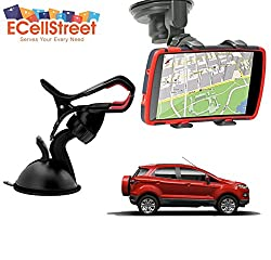 ECellStreet TM Mobile phone soft tube mount holder with suction cup - Multi-angle 360° Degree Rotating Clip Windshield Dashboard Smartphone Car Mount Holder Ford B Max