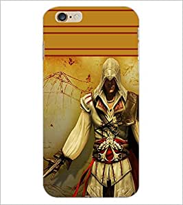 PrintDhaba Warrior D-1891 Back Case Cover for APPLE IPHONE 6 (Multi-Coloured)