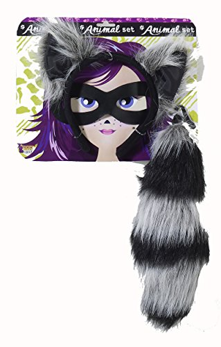 Raccoon Costume Set Raccoon Ears, Taik & Mask Set 71193