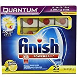 Finish Quantum Dishwasher Detergent, Lemon Sparkle Scent, 150 Count