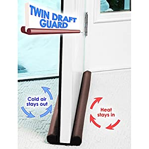 Twin Draft Guard Door/Window Energy Saving As Seen On TV (Brown)
