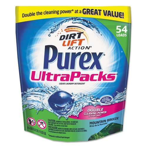 Purex Ultrapacks Liquid Laundry Detergent, Mountain Fresh, 54 Packets/Pack - 54 packs of detergent. enantioresolution of certain pharmaceuticals by liquid chromatography