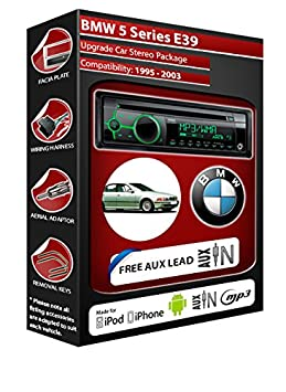 BMW Série 5 E39 Autoradio CD MP3 radio play Clarion, iPod, iPhone, Android