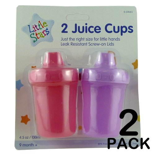 BRAND NEW PACK OF 2 JUICE CUPS - LEAK RESISTANT - HIGH QUALITY - BPA FREE - PVC FREE