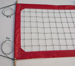 Volleyball Professional Net, Aircraft Cable Top and Bottom, 4-inch Tapes - PRO4 by Home Court