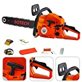 Sotech - Petrol Chain Saw 45CC 1800W High Quality Powerful Garden Tool