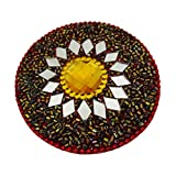 Indian Women Mirror Home Decor Antique Traditional Jewellery Cosmatic Table Top Glass Mirror Beaded Material Fashion Mirror Gift For Her