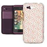 Phone Case For HTC Rhyme - Paisley Soft Pink Pastel Lightweight Cover