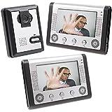 Docooler 7 Inch Video Door Phone Doorbell Intercom Kit 1-camera 2-monitor Night Vision