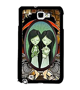 Printvisa 2D Printed Girly Designer back case cover for Samsung Galaxy Note 1 - D4526