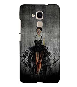 Beautiful Girl 3D Hard Polycarbonate Designer Back Case Cover for Huawei Honor 5C : Huawei Honor 7 Lite : Huawei GT3