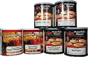 Mountain House Freeze-Dried Beef Entrees and Vegetable Combo by Provident Pantry and Mountain House