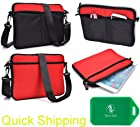RCA Pro 10 Edition Universal protective messenger bag in Black/Fire Red