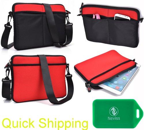 Black&Red Universal Messenger Bag In Neoprene For Hp Voodoo Ebvy133 Nv4020Na