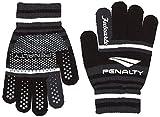 (ペナルティ)PENALTY サッカー フットサル 手袋 ニットグローブ PE6719 3022 ブラック×チャコール FREE