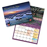 """""""Blessed Is the Man"""" Scripture Photo Calendar From Israel, Hebraic Roots, Biblical / Jewish Calendars Made in Israel for Christians and Messianic Believers, 16-months (September 2014-december 2015)"""