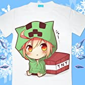 コスプレ衣装♪Minecraft(マインクラフト)クリーパー(Creeper) Tシャツ LLLサイズ コスチューム、コスプレ