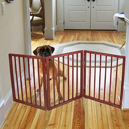 freestanding-folding-wood-pet-animal-safety-gate-fence-pen-doorway-hall-stairs