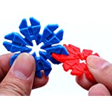 Vibgyor Vibes™ Magic Building Blocks- Colourful Plastic Leaves Designed Connector Assembly Blocks.Innovative Shapes And Designs Can Be Made.