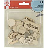 American Crafts 24 Piece Happy Traveler Wood Veneers