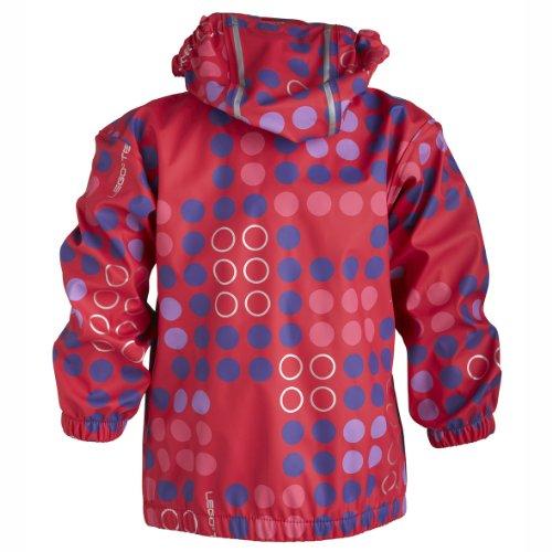 LEGO Wear Baby - Mädchen Jacke JESSI 207 - RAIN JACKET Regenjacke, Gr. 80, Rot (356 BRIGHT RED) -