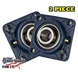 2 Pieces- 1 inch 4 Bolts Pillow Block Flange Bearing,UCF205-16,Self-Alignment, Brand New