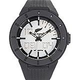 All Blacks - 680226 - Montre Homme - Quartz Digital - Cadran Argent - Bracelet Plastique Noir