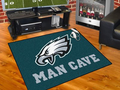 "Philadelphia Eagles Man Cave All-Star Rug 34""""x45"""""