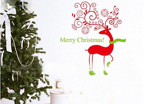 Toprate(Tm) Merry Christmas Christmas Deer Family Christmas Atmosphere Home Art Decor Decal Love Kids Bedroom front-60362