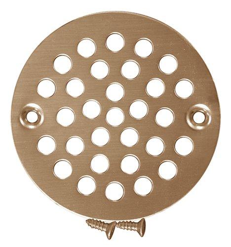 Plumbest C60-810 Stamped Decorative Finish Shower Drain Strainer, Polished Brass
