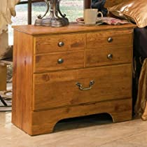 Hot Sale Bittersweet Nightstand in Rustic Pine Finish