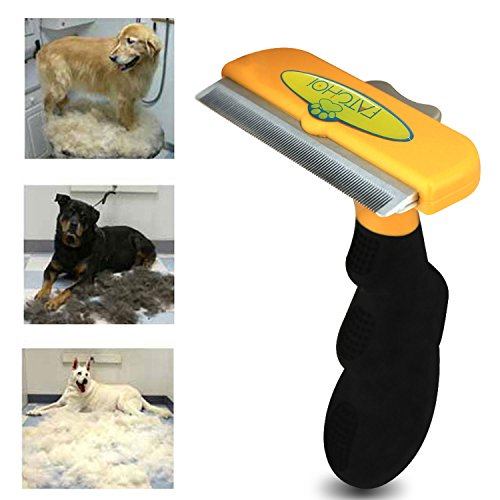 Dog & Cat Brush For Shedding, Best Long & Short Hair Pet Grooming Tool, Reduces Dogs and Cats Shedding Hair By More Than 90%, The Chirpy Pets Deshedding Tool (Dog Brush Shedding compare prices)